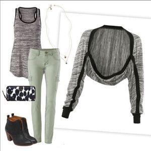 CAbi horizontal shrug black and gray